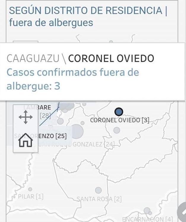 Coronel Oviedo; Tercer caso de Covid-19
