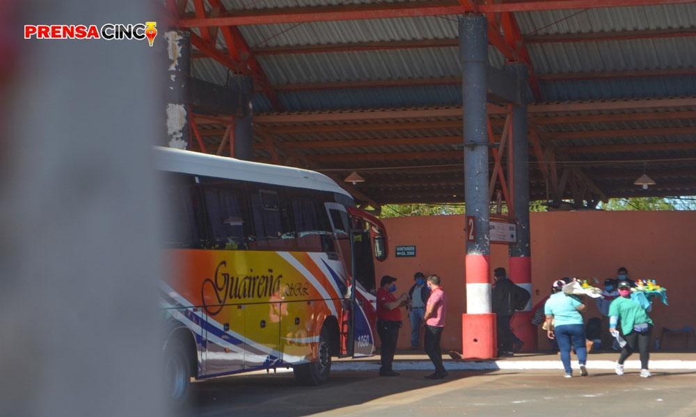 Terminal de ómnibus; Actividades comerciales se redujeron al 5% de lo normal