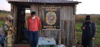 Conocido microtraficante fue aprehendido en Coronel Oviedo