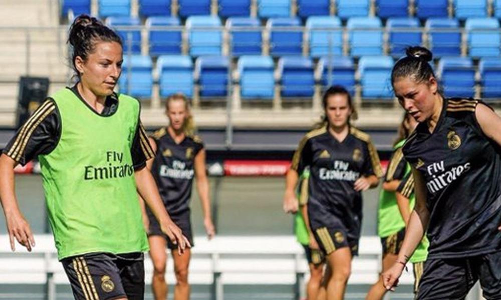 Jéssica Martínez tuvo su primer entrenamiento con el Real Madrid