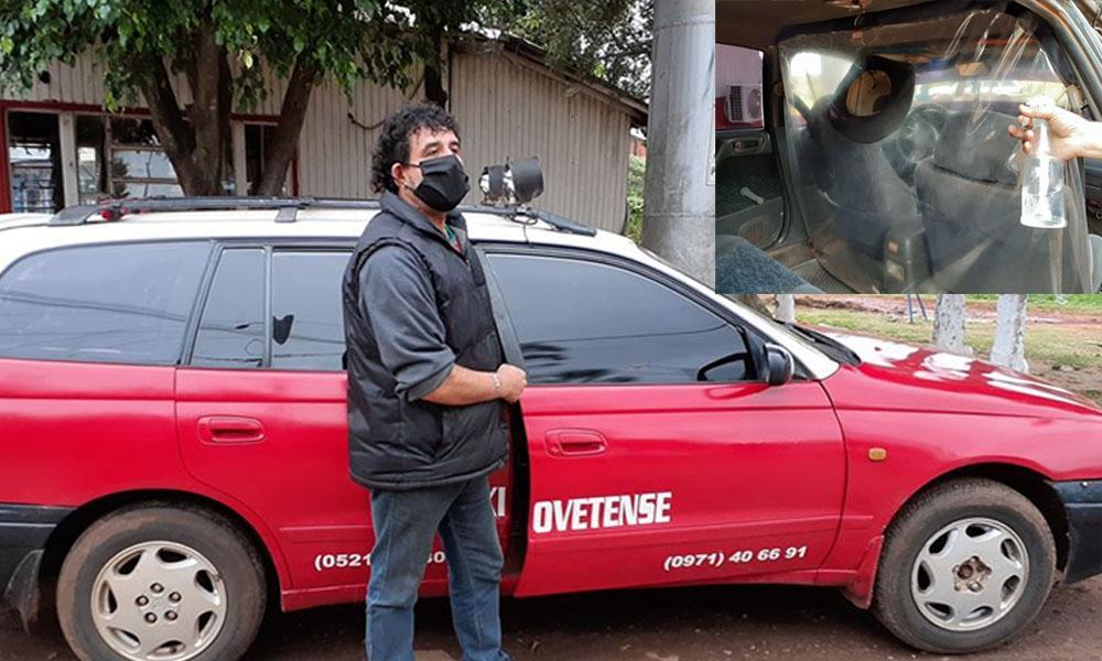Modo Covid de vivir; Taxistas adecuan móviles